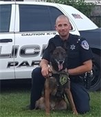 Retired Villa Park Police Canine Inoe and Officer Bryan Hruby