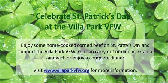 St. Patrick's Day VFW Event