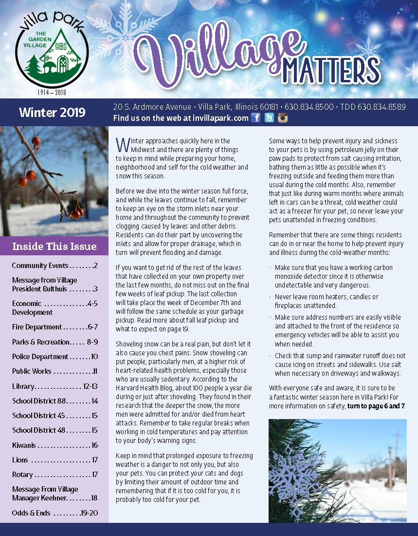 Village Matters Winter 2019 Opens in new window