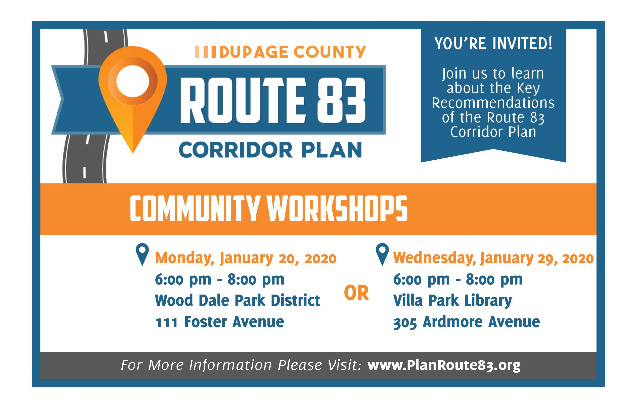 Rt 83 Corridor Plan Community Workshop