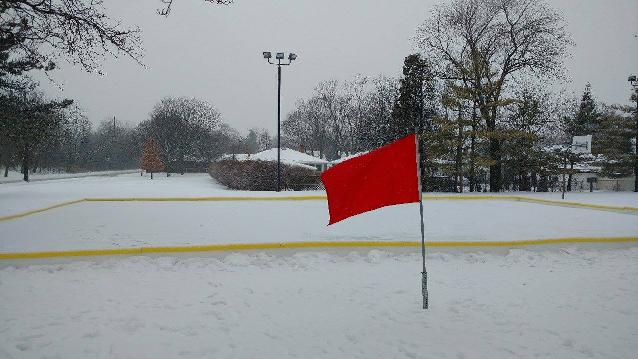 Red Flag on Rink