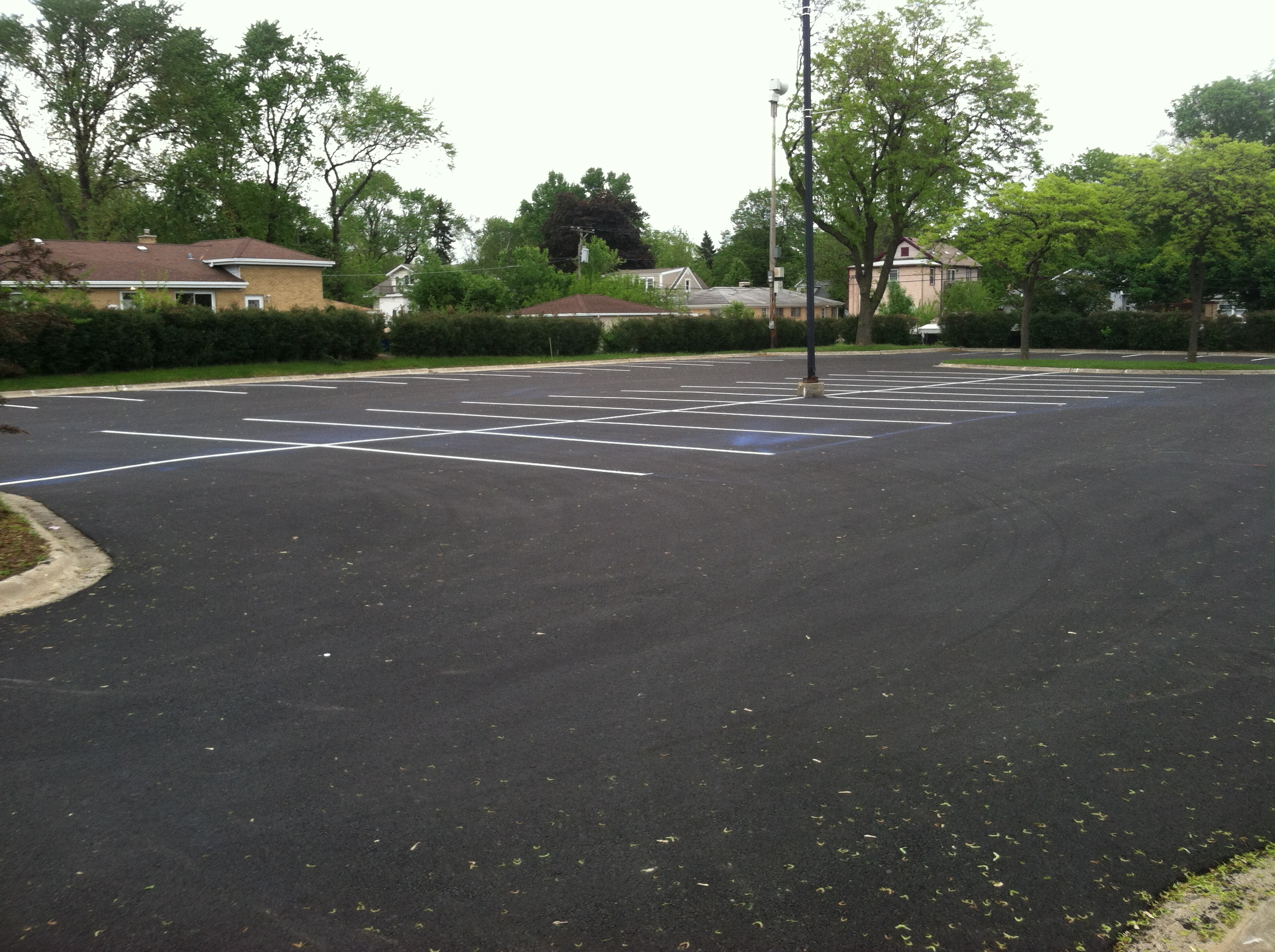 Striping at Jefferson Pool Complete