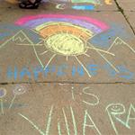 Happiness is Villa Park, Written on the Sidewalk