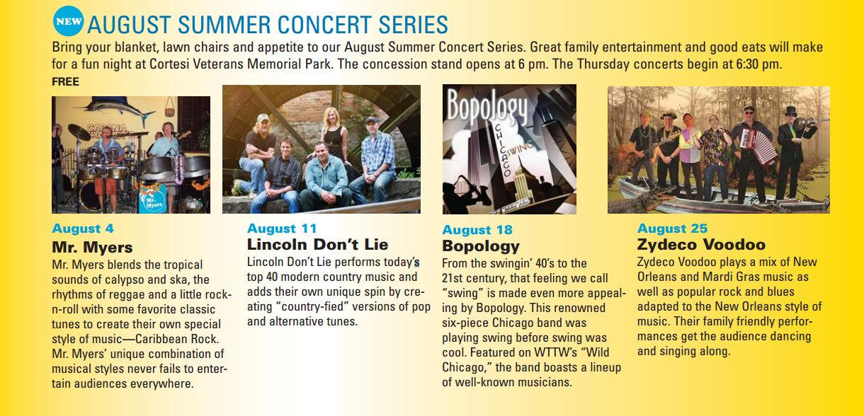 August Concerts 2016